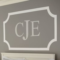 3 Letter Monogram Decal