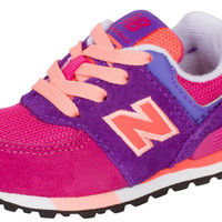 New Balance Kids' 574 Fashion Sneaker Cut Paste (Tod) Running Shoe Pink/Purple Toddler (1-4 Years) 8 W US Toddler '