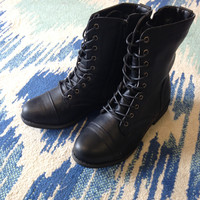 What He Doesn't Know Combat Boots - Black