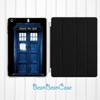 iPad mini case, new iPad mini retina 2 case, iPad Air case, doctor who tardis door case, back hard cover case with smart cover (K19)