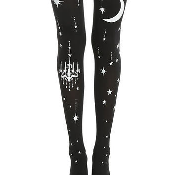 Blackheart Lolita Star Gazing Tights