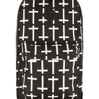 BLACK CROSS PRINT BACKPACK - Bags - Shoes and Accessories - TOPMAN USA
