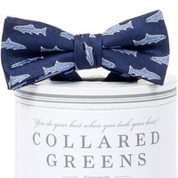 Boys Trout Bow Tie Navy