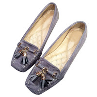 New 2017 Spring Autumn Flats Women Brand Shoes Fashion Womens Flats Elegant Loafers Woman Soft Sole T247