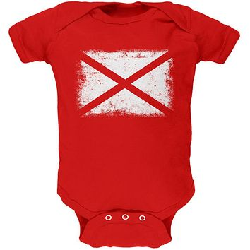 Born and Raised Alabama State Flag Soft Baby One Piece