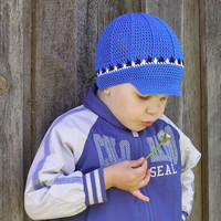 Crochet cotton cap.Crochet newsboy hat for boys.Spring hat.Summer cap