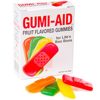 Gummy First Aid Bandages: 3-Ounce Box