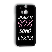 Cool Brain Song Music Cute Funny Quote HTC One M8 Case