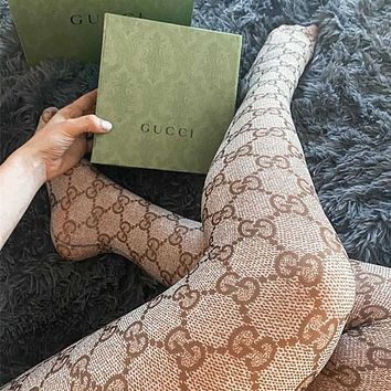 keniii  Givenchy  YSL  DIOR  LV  GG Men's and women's  PATTERN TIGHTS