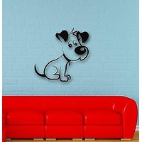 Wall Stickers Vinyl Decal Funny Puppy Dog for Kids Room Nursery Unique Gift (ig657)