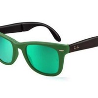 Kalete NEW Ray Ban RB4105 602119 Matte Green Crystal Mens Womens Sunglasses Glasses