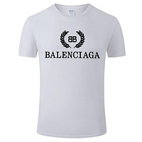 Balenciaga T Shirt Big V Top Print Classic Women Men Lovers Sweatershirt White
