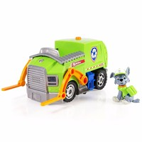 Genuine Original Paw Patrol Rocky's Lights Sounds Recycling Truck Nickelodeon Rocky Action Figure kids toy