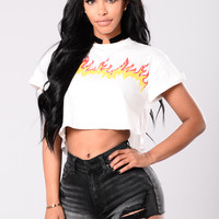 Flamin' Hot Tee - White