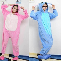 Unisex Adult Pajamas Kigurumi Cosplay Costume Onesuit Stitch Flannel Sleepwear [9221631364]