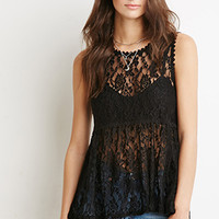 Floral Lace Babydoll Top
