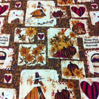 Bless this Harvest Cotton Fabric - Autumn Sewing supplies
