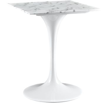 """Lippa 24"""" Artificial Marble Dining Table"""