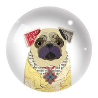 Pug Dome Paperweight