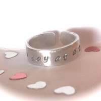 Sobriety gift   One day at a time   Sobriety   Addiction recovery ring   Sobriety Date ring   Weight loss   Drug addiction   Healing ring