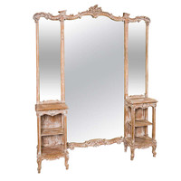 French Three Panel Dressing Mirror / Vanity