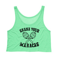 Cinco De Mayo Shake Your Maracas Tank Top Crop