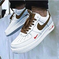 Onewel NIKE Air Force 1 Sneakers Women Men White High tops Low Tops Milk White Coffee
