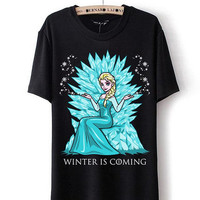 Popular Inspired Design winter is coming , frozen is coming for T shirt mens and T shirt girl available All Size