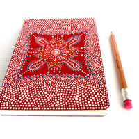 Red and White Dream Journal: Hand painted cover Red and white