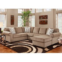 3050 Jesse Cocoa 3 Piece Sectional