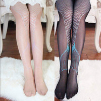Mermaid Tattoo Tights sold by Sandysshop