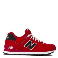 New Balance Woven 574 Sneakers in Red