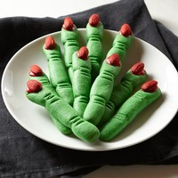 Shortbread Witch Finger Cookies