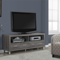 "Tv Stand - 60""L / 4 Drawers / Dark Taupe"