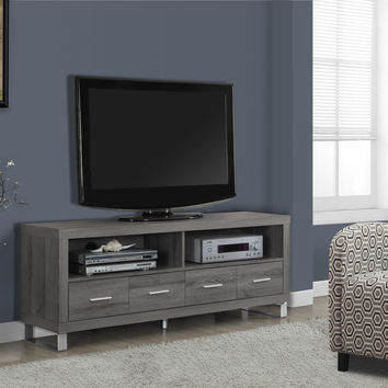 """Tv Stand - 60""""L / 4 Drawers / Dark Taupe"""