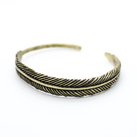 Feather bangle bracelet