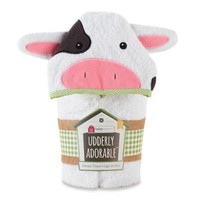 Baby Aspen Utterly Adorable Cow Hooded Spa Towel