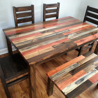 Rustic Dining Room Set / Rustic Dining Set / Rustic Kitchen Set