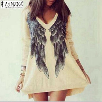 Angel Wings long sleeve  mini dress