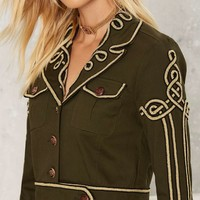 Nasty Gal Got Your Six Soutache Military Jacket