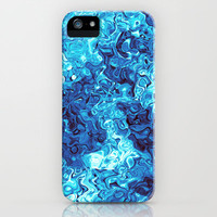 Blue Glass iPhone & iPod Case by Alice Gosling