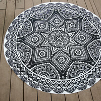 Hippy Tapestries Chiffon Round Beach Towel Mandala Bohemian 2016 New Large Microfiber Printed Beach Playa Towel 150cm