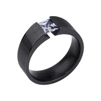 Big Ass Bling Imitation Ring - with Pyramid Diamond (CZ)