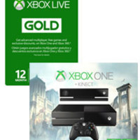 Xbox One with Kinect Assassin's Creed Unity Bundle with 12 Month Xbox Live Gold Membership