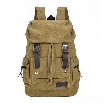 Unisex Canvas Travel Backpack
