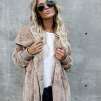 Winter Soft Keep Warm Fur Cotton Jacket