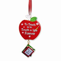 Teacher Glass Ornament - Perfect Teachers Gift