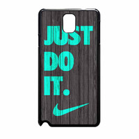 Nike Just Do It Wood Colored Darkwood Wooden Fdl Samsung Galaxy Note 3 Case