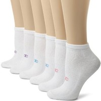 Champion Women's Extended Size 6-Pack Performance Low Cut Socks