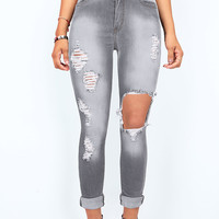Dynamite High Waist Shredded Skinnys |Jeans at Pinkice.com